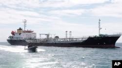 این نفتکش در نزدیکی جزیره تولوپ توقیف شد