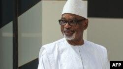 L'ancien président Ibrahim Boubacar Keita à Nouakchott, le 30 juin 2020.