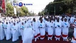 VOA60 Duniya: Dubban 'Yan Kasar Habasha Mabiya Dadaddiyar Akidar Cocin Kasar Sun Taru A Addis Ababa