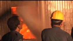 2012-09-12 美國之音視頻新聞: 巴基斯坦兩家工廠發生大火