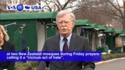 VOA60 America - The United States strongly condemned the deadly attack at two New Zealand mosques
