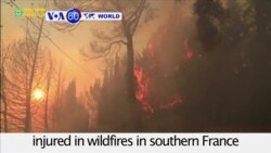 VOA60 World - Seven people, including four firemen, injured in wildfires in southern France