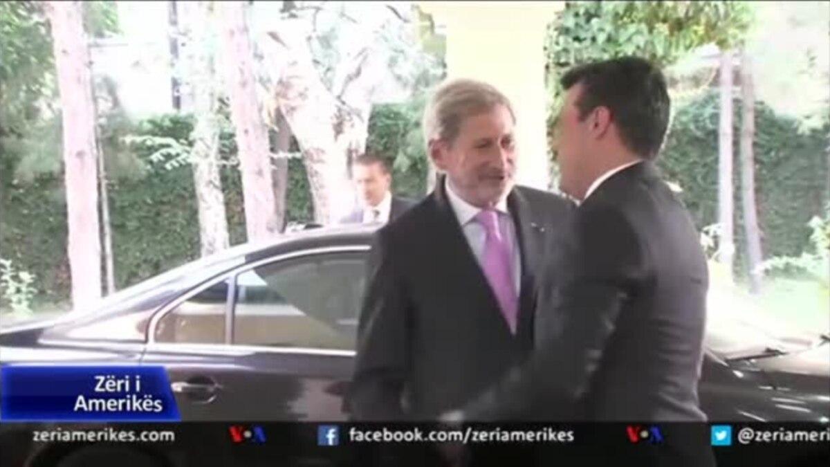 Maqedoni, Komisioneri Johannes Hahn bën thirrje për dalje në referendum