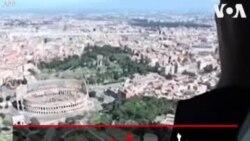 پلیس شهر رم قرنطینه مردم را با هلیکوپتر زیرنظر دارد