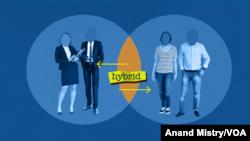 Hybrid Work - Remote Work Graphic