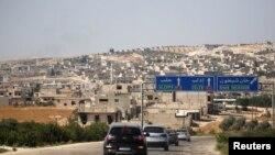 L'entrée de Khan Sheikhoun, une ville de l'enclave d'idleb, en Syrie, le 24 août 2019.