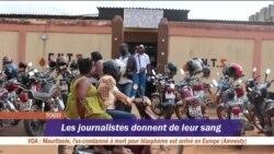 Les journalistes togolais donnent leur sang