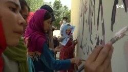 نقاشی بر دیوارهای مکتب سیدالشهدا
