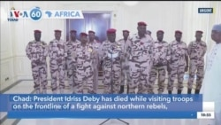 VOA60 Africa -Chad President Killed in Battle with Rebels