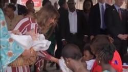 第一夫人梅拉尼婭繼續非洲友好訪問