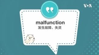 学个词 - malfunction