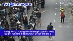 VOA60 World - Police Used Batons, Pepper Spray Against Protesters in Hong Kong