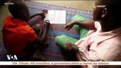Des cours à distance à la radio pour les enfants déplacés