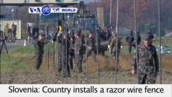 VOA60 World - Slovenia installs a razor wire fence along parts of its border with Croatia