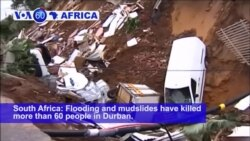 VOA60 Africa - South Africa: Flooding and mudslides have killed more than 60 people in Durban