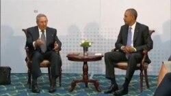ملاقات تاریخی روسای جمهوری آمریکا و کوبا