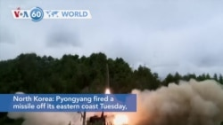 VOA60 Addunyaa - North Korea Launches Another Missile