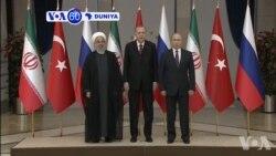VOA60 Duniya: Shugaban Iran Hassan Rouhani Ya Hadu Da Takwarorin Aikinsa Na Rasha Da Turkiya
