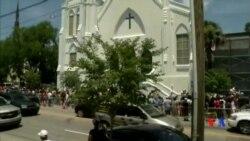 2015-06-21 美國之音視頻新聞:被槍擊的非裔美國人教堂恢復活動