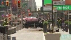 Une voiture renverse des piétons à Times Square à New York (vidéo)