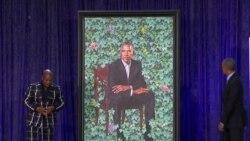 Barack Obama Portrait Unveiled at Smithsonian