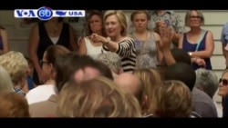 Ứng cử viên tổng thống Hillary Clinton đang mất dần sự ủng hộ (VOA60)