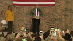 U.S. President Pays Surprise Visit to Troops in Iraq