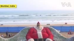 Nghệ sĩ Ấn Độ sáng tạo ông Noel lớn nhất thế giới