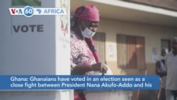 VOA60 Africa - Voters in Ghana are going to the polls today