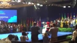 U.S. President Obama Receives Standing Welcome At YALI Summit