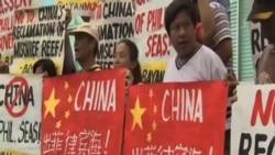菲律賓人抗議中國填海造島
