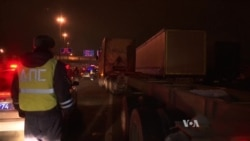 Russian Truckers Jam Roads in Moscow Traffic Protest
