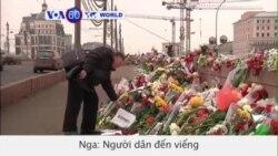 Người dân Nga đến viếng nơi tưởng niệm ông Nemtsov (VOA60)