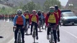 رقابت ۵۰ دختر در مسابقات بایسکلرانی بامیان