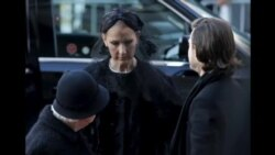 Singer Celine Dion Attends Funeral of Late Husband and Manager, Rene Angelil