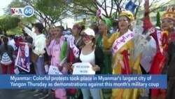 VOA60 World - Myanmar's Military Detains More Government Officials as Protests Continue