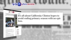 VOA60 Elections - WP: Democratic race will come down to California