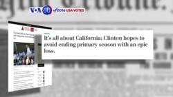 VOA60 Elections - WP: Democratic race will come down to California