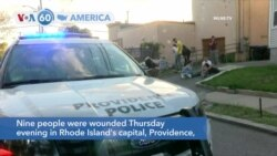 VOA60 America - Nine people wounded in Rhode Island's capital, Providence