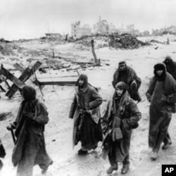 在斯大林格勒被俘的德军士兵
