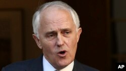 FILE - Australia Prime Minister Malcolm Turnbull. Turnbull said his government does not intend to change Australia's military commitment to Iraq and Syria.