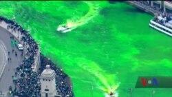 У Чикаго у День святого Патрика зеленою стає навіть місцева річка. Відео