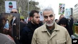 伊朗聖城軍(Quds Force)司令卡塞姆•索萊馬尼將軍 (資料圖片)
