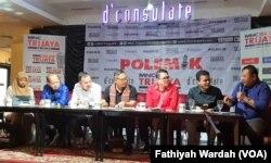 Diskusi tentang rekonsiliasi pasca pilpres di Jakarta, Sabtu, 29 Juni 2019. (Foto: Fathiyah Wardah/VOA)