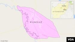 ແຜນທີ່ເຂດເມືອງ Kunduz, ຂອງອັຟການິສຖານ