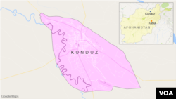 Peta Kunduz, Afghanistan.
