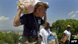 Actor and activist Sean Penn helps earthquake victims in Haiti in 2010