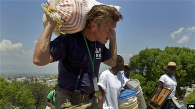 Actor and activist Sean Penn helps earthquake victims in Haiti in 2010