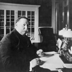 William Howard Taft at his desk