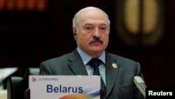 រូបឯកសារ៖ ប្រធានាធិបតីបេឡារុសលោក Alexander Lukashenko ចូលរួមកិច្ចប្រជុំមួយនៅទីក្រុងប៉េកាំង នៅឆ្នាំ២០១៧។